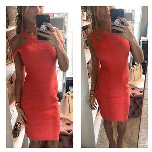 MISSONI Coral Orange Texture Sleeveless Dress XS 2